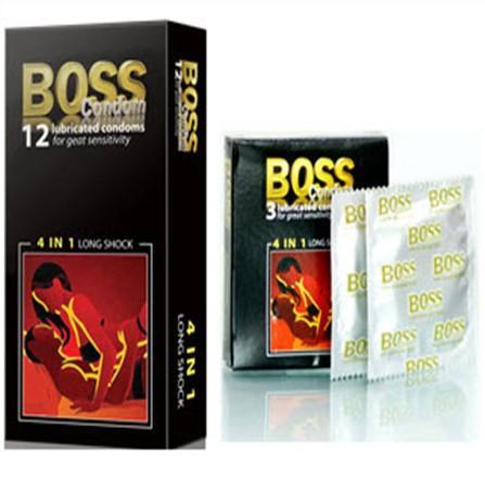 Hình ảnh Bao Cao Su Cho Boss 4 in1 Gân Gai Kéo Dài Thời Gian Hộp 12 Cái [HangTotNhat]