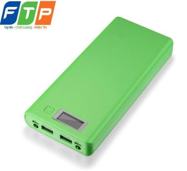 Hộp đựng pin dự phòng FTP 8 Cell có màn hình LCD (Xanh lá)