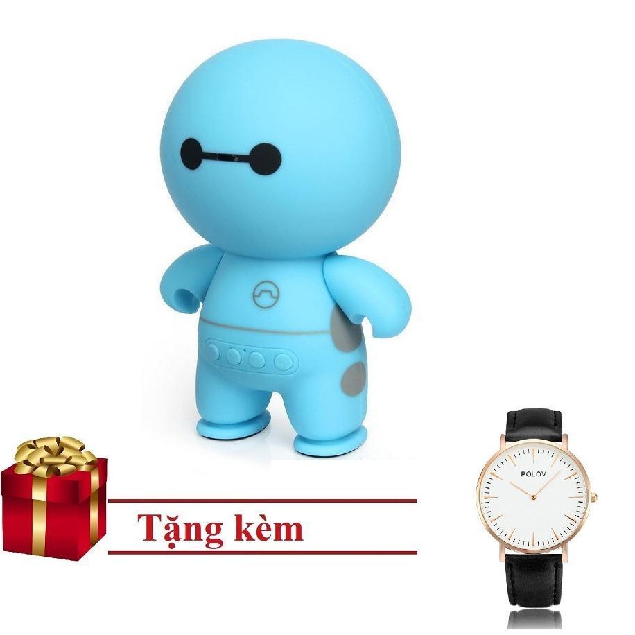 Loa bluetooth mini cầm tay big hero Speaker PKCB-A9 tặng đồng Hồ cluse Đen