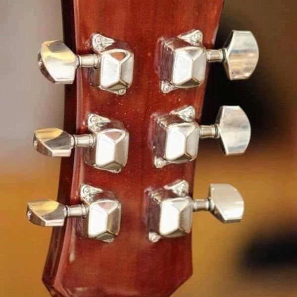 Bộ 6 chiếc khóa đàn guitar acoustic inox loại đúc hộp