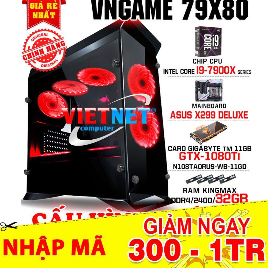 Hình ảnh Máy tính siêu khủng VNGame 79X80 CPU SPECIAL GAMING i9 7900X SERIES card GTX 1080Ti RAM 32GB / SSD 120GB
