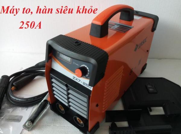 Máy hàn que điện tửJasic 250a  may han que dien tu nhỏ gọn, giá cả phải chăng cho nhu cầu gia đình. -Tiêu chuẩn que hàn: 1.6-4mm (Hàn được que 5mm).