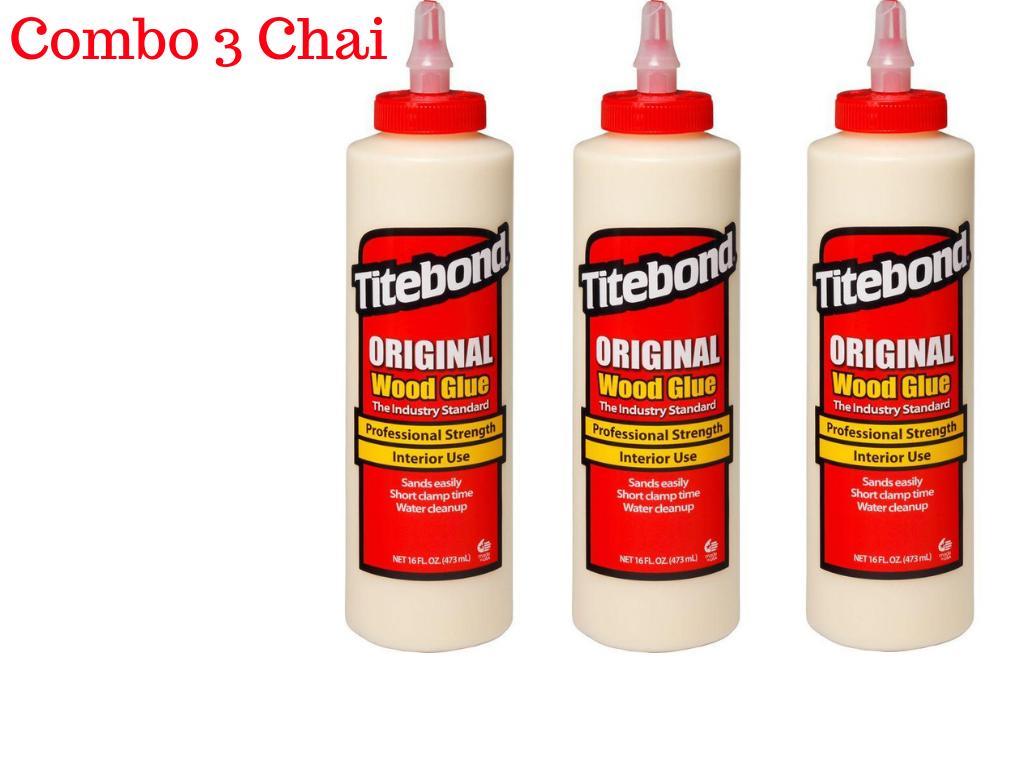 Combo 3 Chai Keo dán gỗ nội thất Titebond Original Wood Glue 473ml