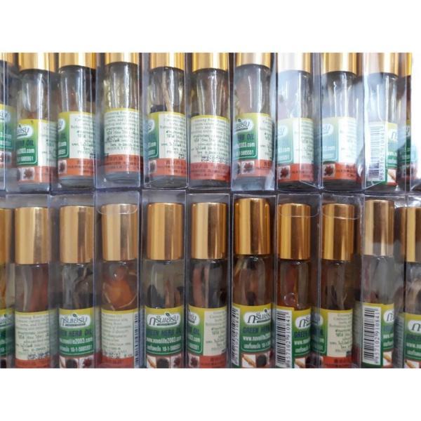 combo 6 Chai Dầu Gió Thảo Dược Green Herb Thailand 8ml