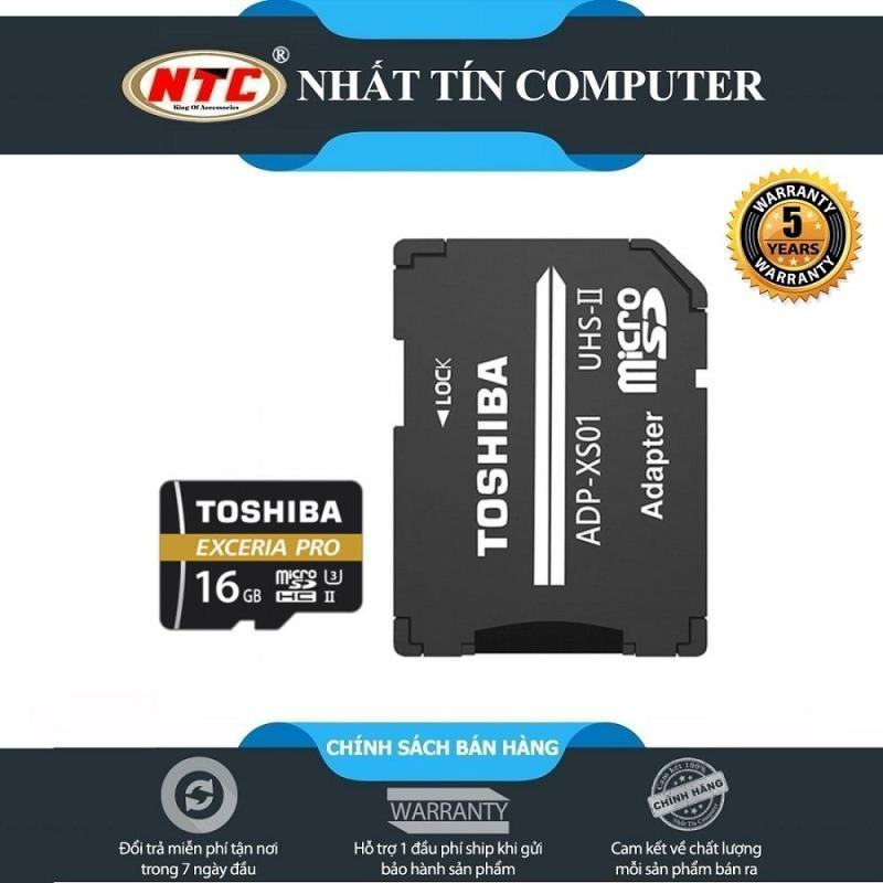 Thẻ nhớ MicroSDHC Toshiba Exceria Pro M501 16GB UHS-II U3 4K R270MB/s W150MB/s (Đen)