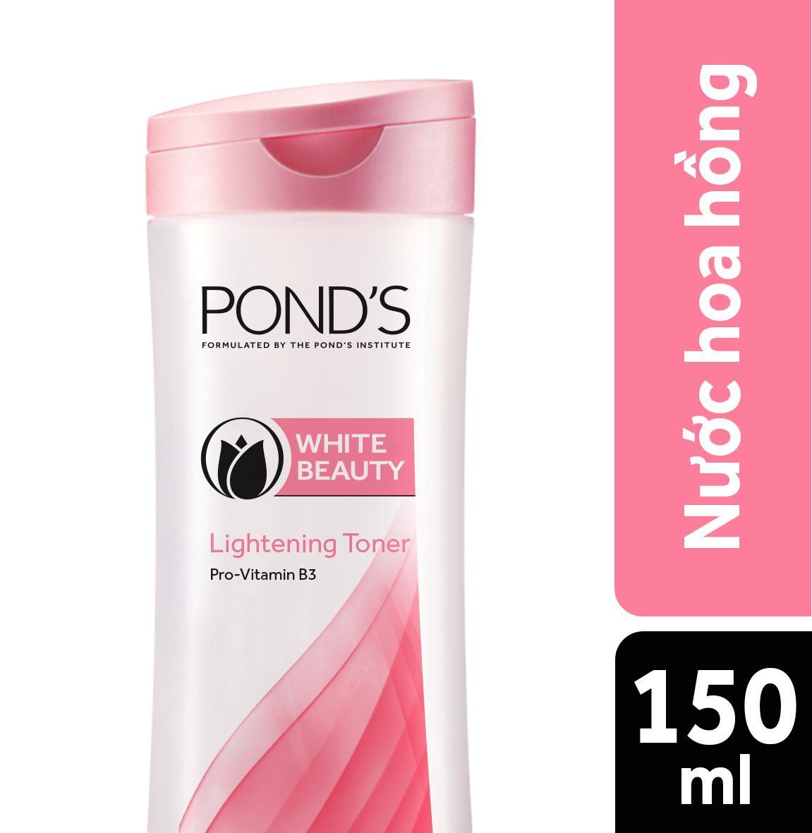 Nước hoa hồng se khít lỗ chân lông Ponds White Beauty 150ml