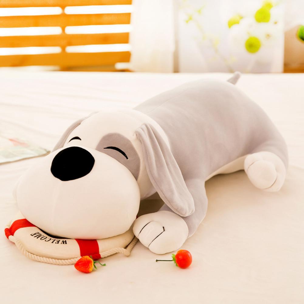 Offer Khuyến Mãi Pellet12 Cute Animals Pillow Bolster Soft Cotton Stuffed Sleeping Dog Pet Toy Helpful For Sleeping Nap