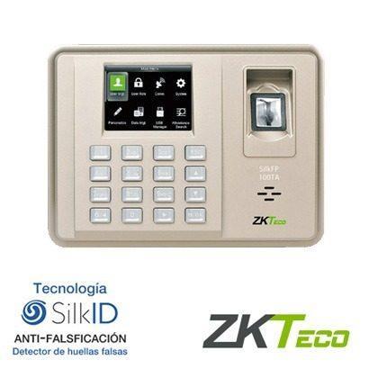 Hình ảnh Máy chấm công vân tay và thẻ ZKteco silk 100TA ( có thẻ)