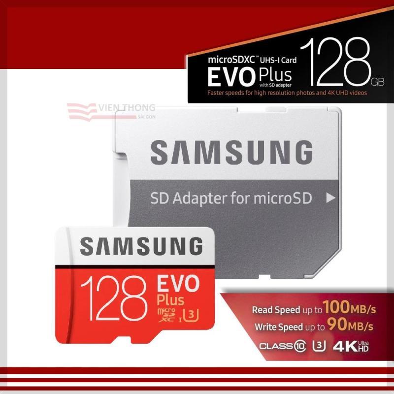 Thẻ nhớ MicroSDXC Samsung Evo Plus 128GB UHS-I U3 100MB/s (Đỏ) + Tặng MicroSD Adapter Samsung