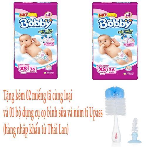 Mã Khuyến Mại Bộ 2 Goi Ta Dan Bobby Sieu Mỏng Sơ Sinh Xs 36 Miếng Dung Cho Trẻ Dưới 5 Kg Rẻ
