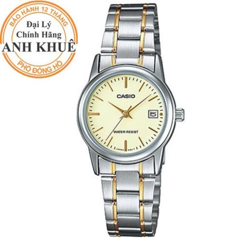 Đồng hồ nữ dây kim loại Casio Anh Khuê LTP-V002SG-9AUDF