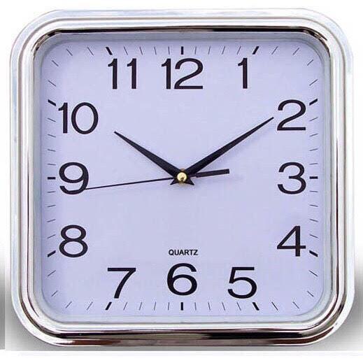Nơi bán Đồng hồ treo tường hình vuông kích thước 29x29cm (trắng) - (BQ300-TRANG)