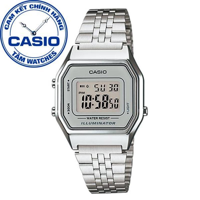 Đồng hồ nữ dây thép không gỉ Casio Standard Anh Khuê LA680WA-7DF