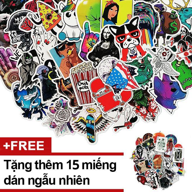 Bán Goi 100 Miếng Dan Sticker Dan Non Bảo Hiểm Tặng Them 15 Miếng Rẻ Trong Hồ Chí Minh