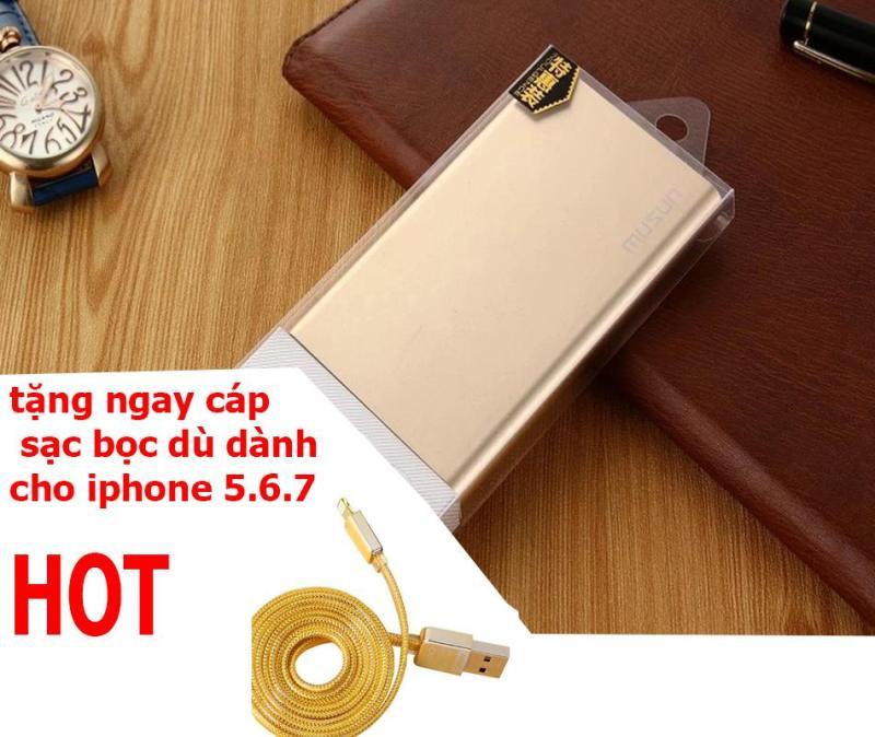 Bảng giá pin dự phòng vỏ kim loại OEM 9800mAh tặng cáp sạc iphone5,6 Phong Vũ