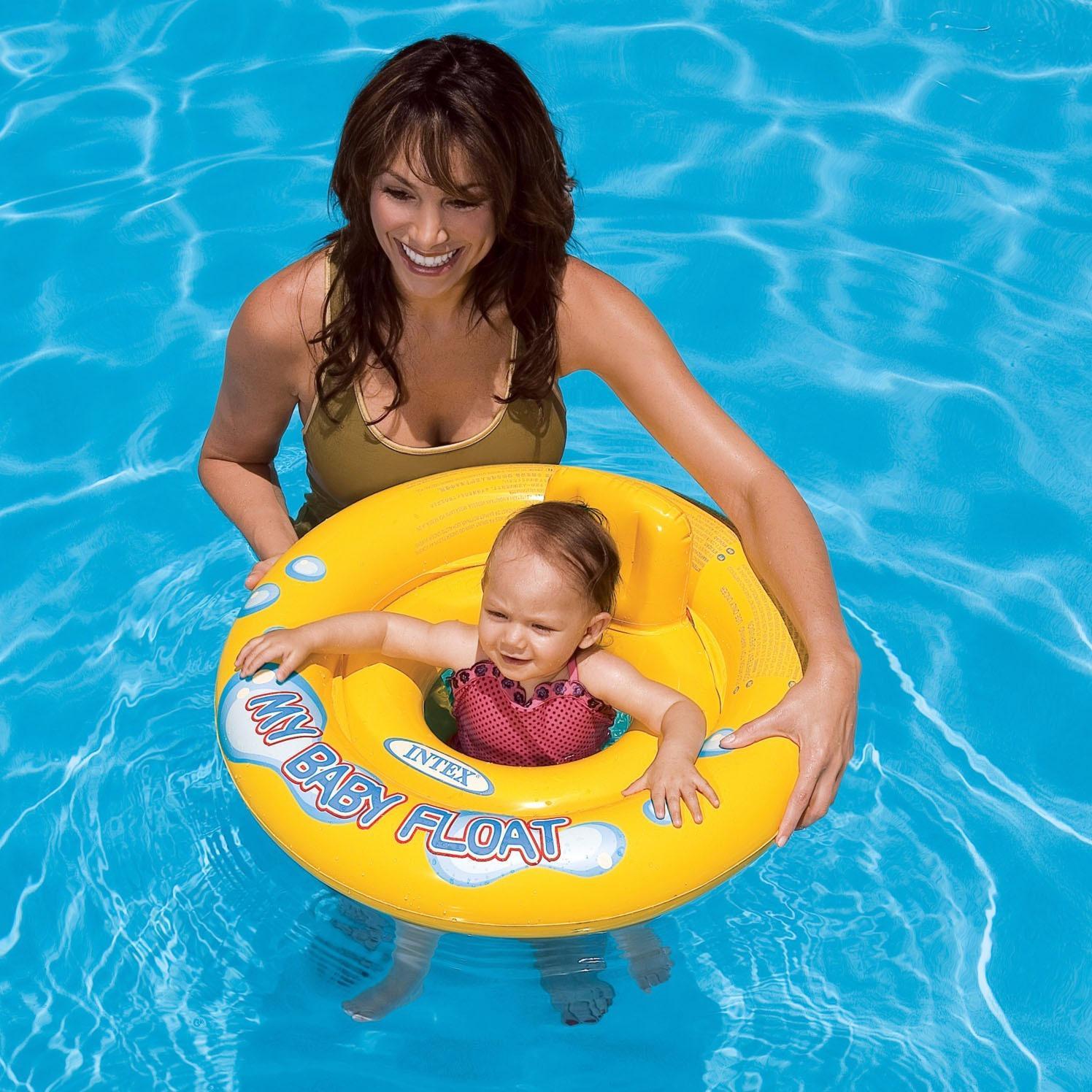 Hình ảnh Phao ghế Intex chống lật đường kính 67 cm dùng cho bé từ 1 đến 3 tuổi
