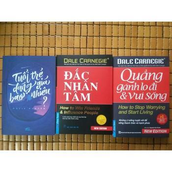 Combo 3 Cuốn Kỹ Năng Hay Nhất:  Tuổi Trẻ  Đáng Giá Bao Nhiêu - Đắc Nhân Tâm - Quẳng Gánh Lo Nhật Bản