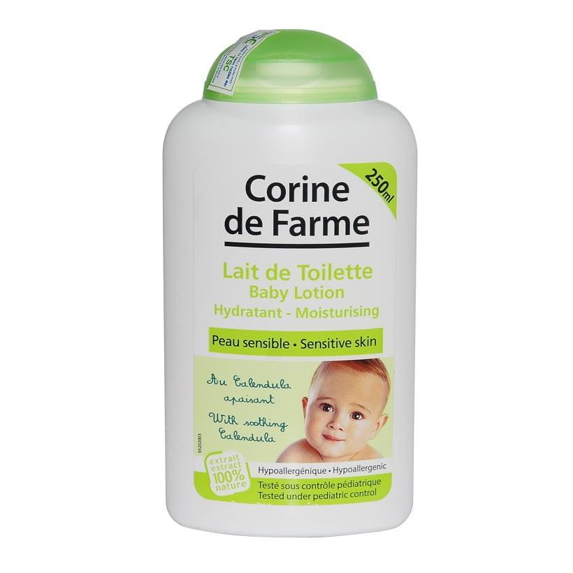 Lotion làm sạch và dưỡng ẩm da cho bé Corine de Farme 250ml