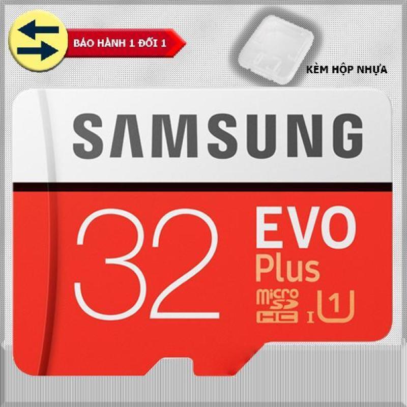 Thẻ nhớ 32gb tốc độ cao Up to 95mb/s MicroSDHC Samsung EVO Plus (đỏ ) thẻ + Hộp nhựa + Tặng đèn Led USB