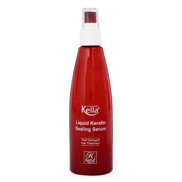 Xịt dưỡng tóc Keratin phục hồi hư tổn Kella  250ml đỏ nhập khẩu