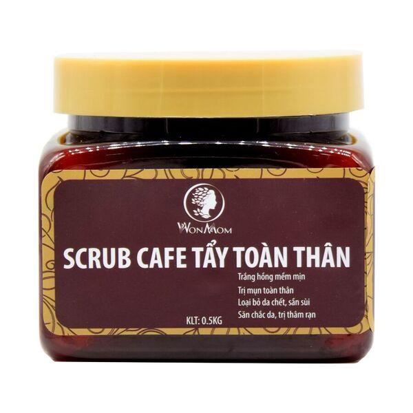 Scrub café tẩy toàn thân Wonmom T008 0.5kg cao cấp