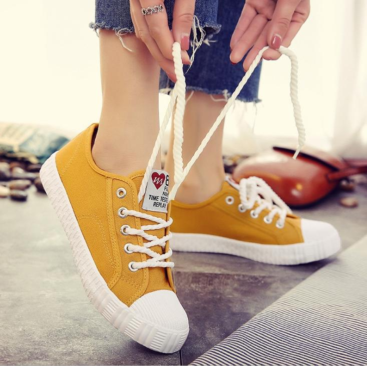 Giầy Sneaker nữ sinh  4 mầu dây thừng 060