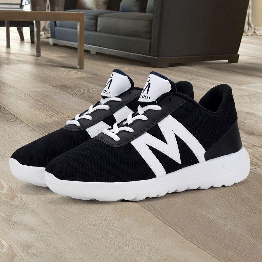 Giày thể thao nam Muidoi G144 (Đen Trắng) giày đẹp giá rẻ giày vải nam