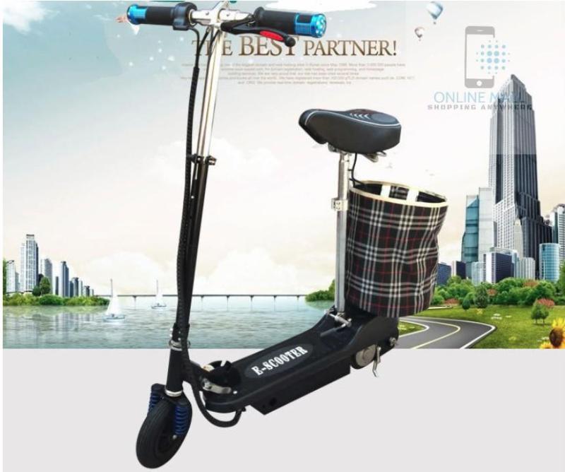 Phân phối Xe scooter điện tốc độ tối đa 15km/h, tải trọng 75kg (Đen)