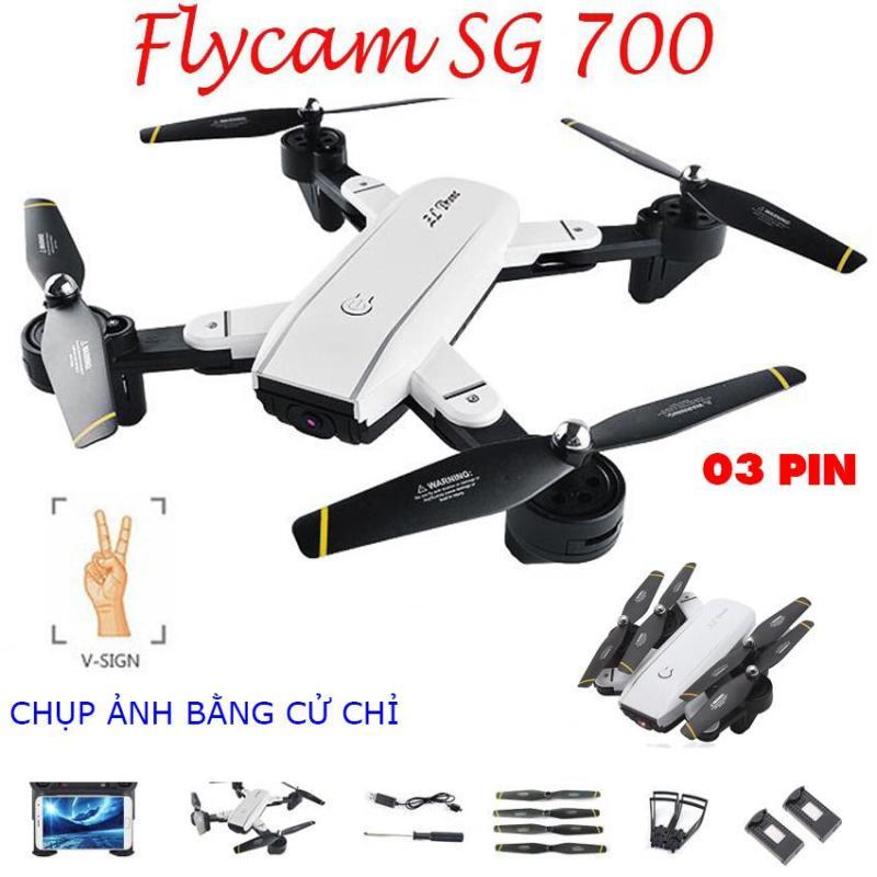[Gói 03 Pin] Flycam SG700 Thế Hệ Mới Chụp Ảnh Bằng Cử Chỉ, Video HD 720P, Camera 2.0MP, Cảm Biến Di Chuyển Theo Bàn Tay, Truyền Hình Ảnh Trực Tiếp Về Điện Thoại