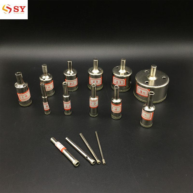 So Young Professional 15pcs Diamond Coated Core Hole Drill Bit Power Marble Glass - intl