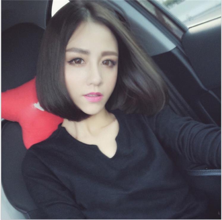 [TẶNG KÈM LƯỚI] Tóc giả nữ nguyên đầu sợi tơ Hàn Quốc CÓ DA ĐẦU - TG81 ( MÀU ĐEN )