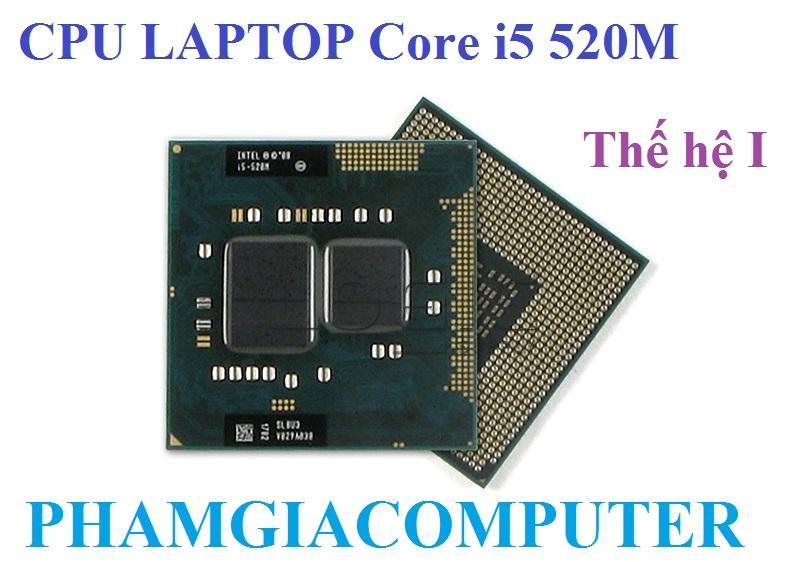 Hình ảnh Bộ vi xử lý CPU Laptop Intel Core i5 520M 4 x 2.40Ghz up Thế hệ 1 - Hàng nhập khẩu-Tặng keo tản nhiệt.