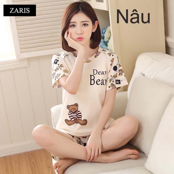 Hình ảnh Bộ quần áo short mặc nhà vải thun thoáng mát ZARIS ZR3015