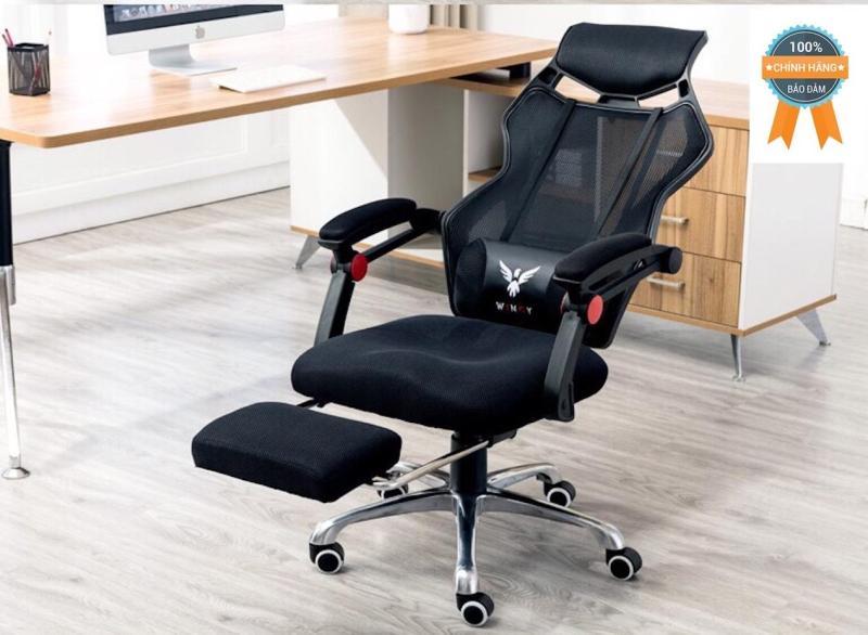 Ghế xoay ngả lưng thư giãn gác chân Mina Furniture NT001-D (Đen) giá rẻ