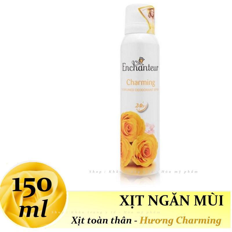 Enchanteur - Xịt khử mùi toàn thân Hương nước hoa 150 ml - Charming nhập khẩu