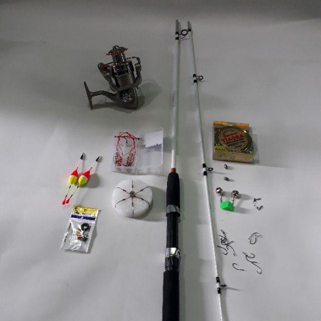 Bộ Cần Câu Cá 2 Khúc 2m7 Và Máy LC 7000 Kèm Phụ Kiện ( đồ câu cá Giang Nam )