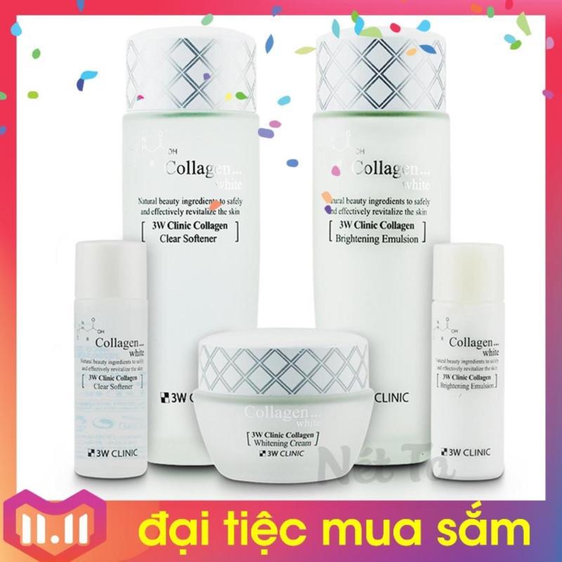 Bộ dưỡng trắng da 3W Clinic Collagen White - Hàn Quốc nhập khẩu