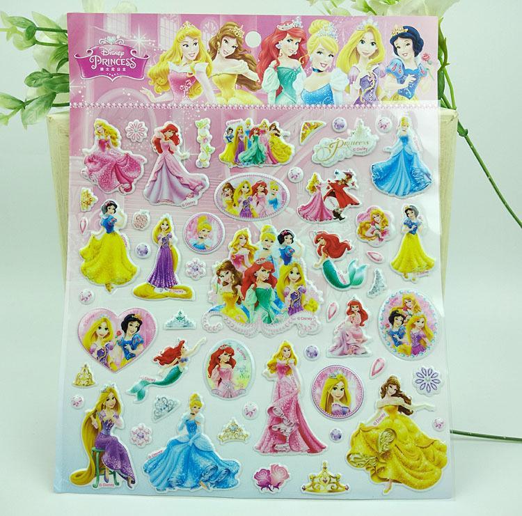 Hình ảnh Hình dán sticker những nàng công chúa (dạng hình dập nổi 3D cứng)