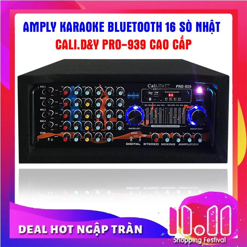 Ampli karaoke Amply nghe nhạc gia đình BLUETOOTH Cali.D&Y PRO-939 ( Tặng 2 chống lăn micro )