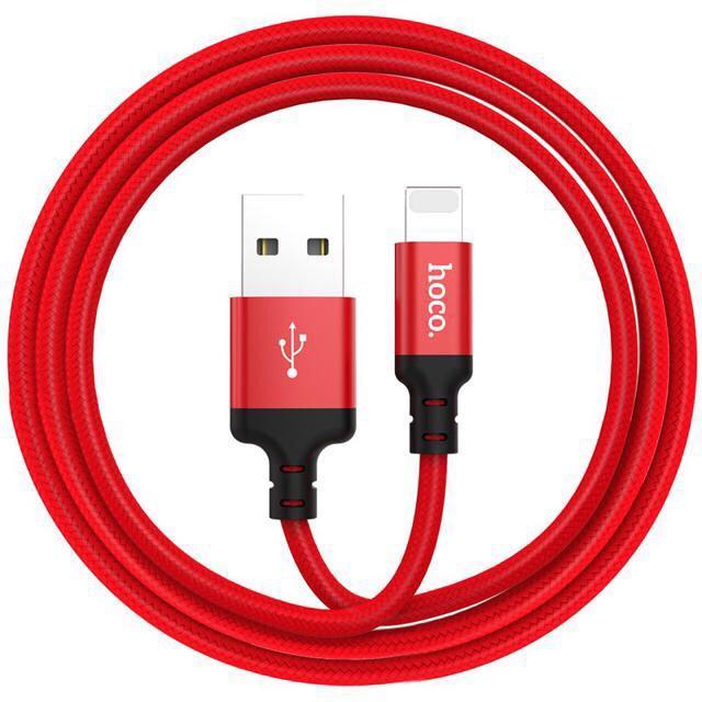 Cáp sạc dây dù Hoco X14 dài 1M, 2M - cổng Lightning - sạc Iphone Ipad✓Chất Lượng Cao ✓Bảo Hành 6 Tháng
