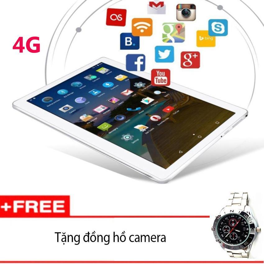 Hình ảnh GIFT-Máy tính bảng 32Gb MATSUMA 10.1inch : 4G-3G-Wifi-Bluetooth-GPS (Ram 2g, Rom 32G) Trắng nắp nhôm + Đồng hồ camera 8Gb