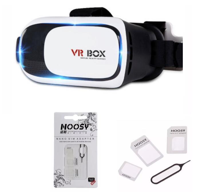 Hình ảnh Kính thực tế ảo VR BOX (Trắng đen) + Tặng 2 Bộ chuyển đổi nano sim đa năng