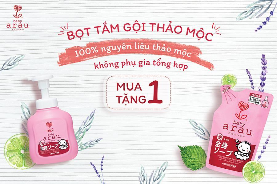 [MUA 1 Bình TẶNG 1 Túi ] Sữa Tắm Gội Toàn Thân Cho Bé Arau Baby