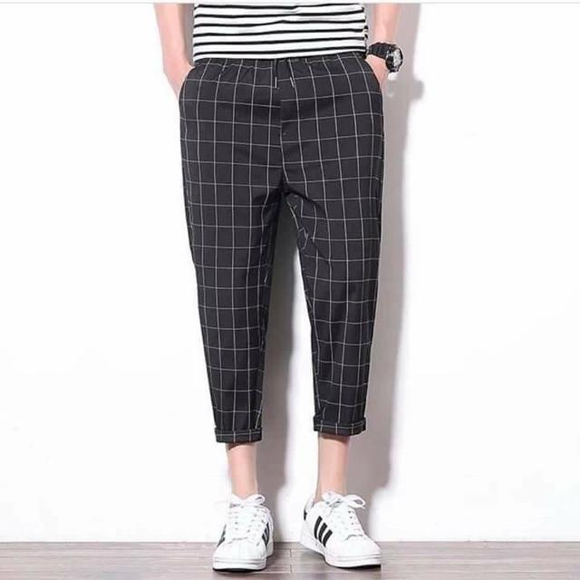 Quần Plaid Pants