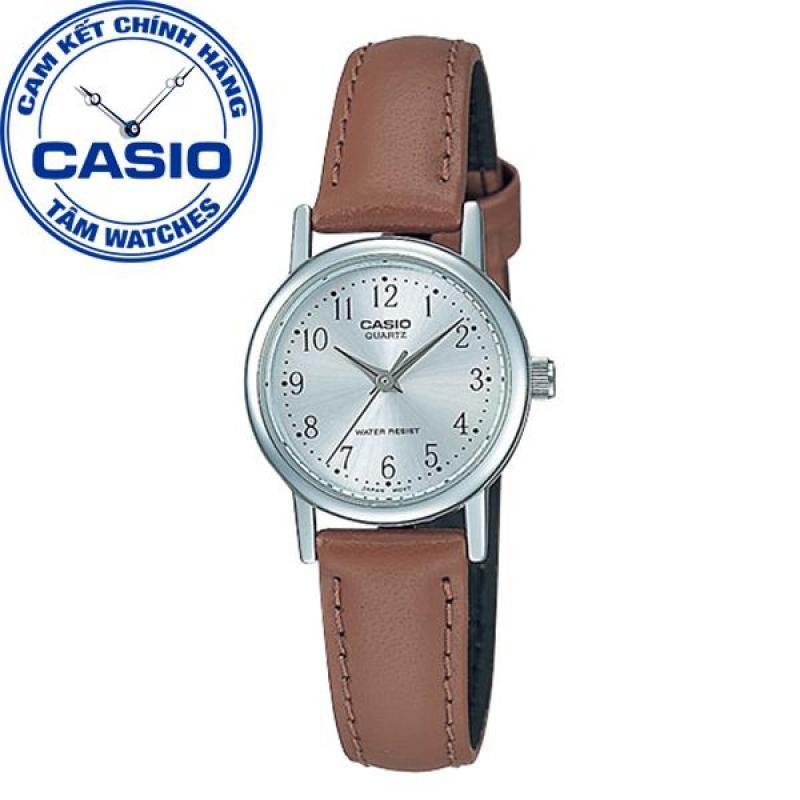 Đồng hồ nữ dây da Casio Standard Anh Khuê LTP-1095E-7BDF