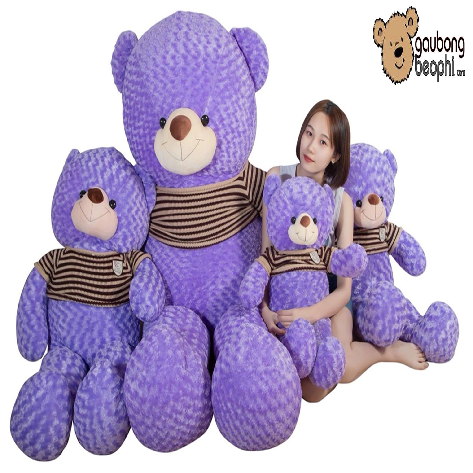 Hình ảnh Gấu bông teddy áo len cao cấp khổ vải 1m6, Shop Gấu Bông Béo Phì, món quà ý nghĩa chuyên dành cho việc tỏ tình, nhân dịp sinh nhật, quà tặng đồ chơi bằng bông an toàn cho bé