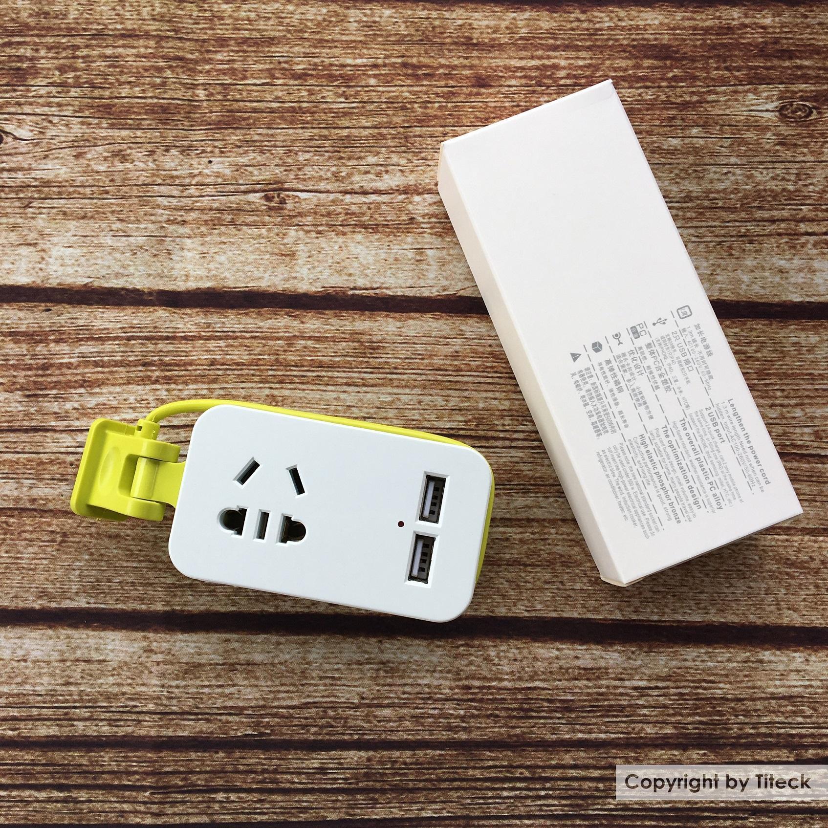 Ổ cắm điện 2 cổng USB