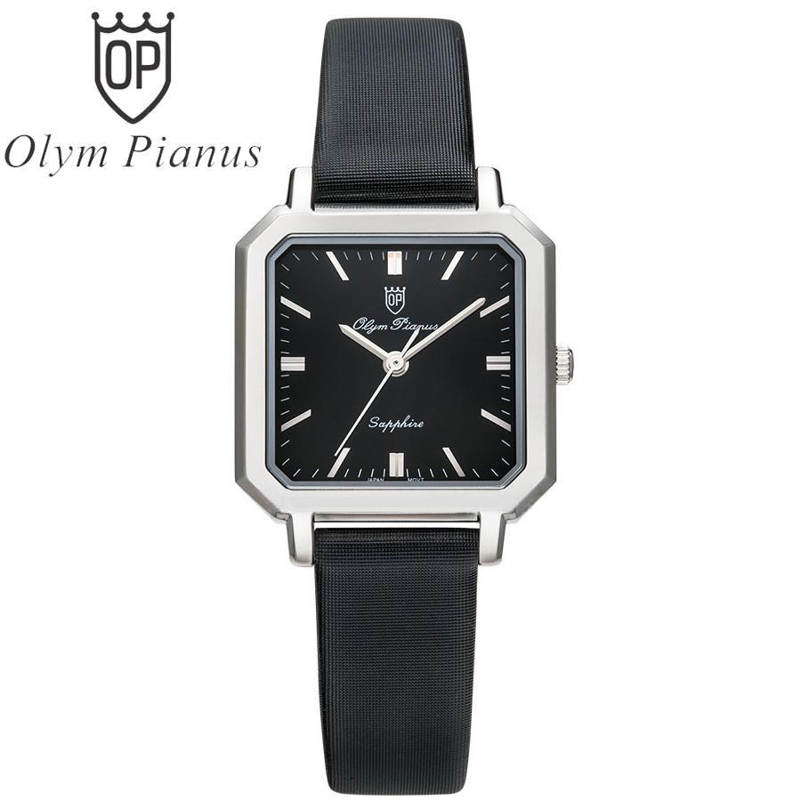 Nơi bán Đồng hồ nữ mặt kính sapphire Olym Pianus OP130-12LS-GL đen