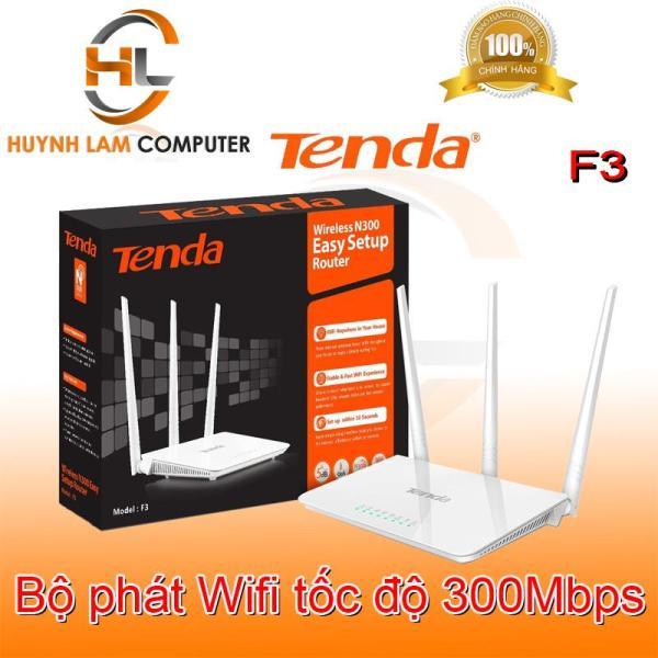 Router WiFi - Bộ phát WiFi Tenda F3 3 râu 300Mbps - Microsun phân phối
