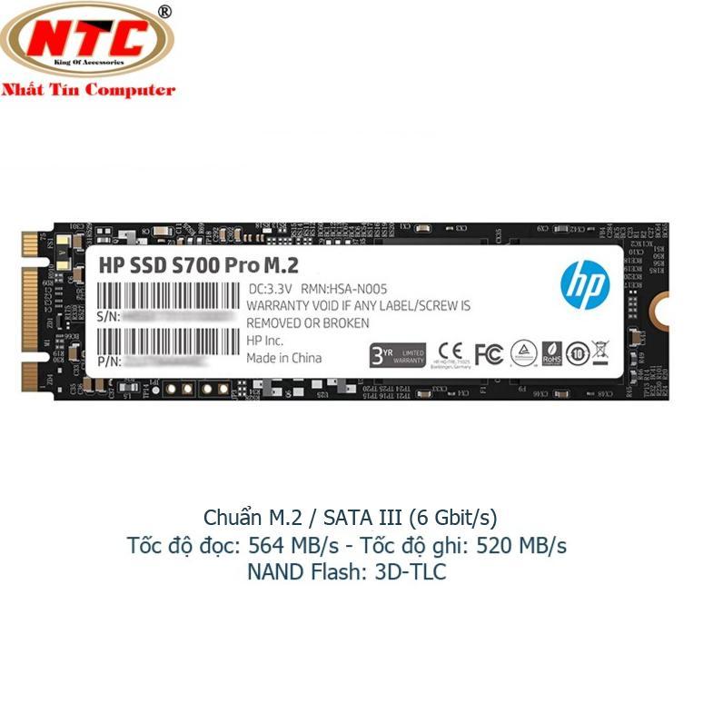 Ổ Cứng SSD M2 HP S700 Pro 512GB chuẩn giao tiếp SATA III - Box Anh (đen)
